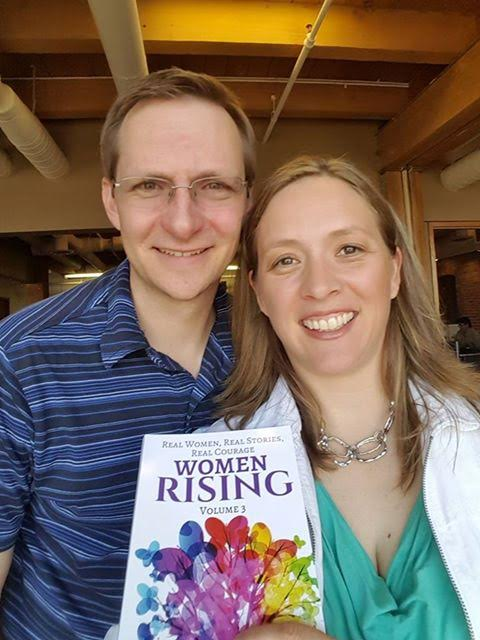 Wendy Andersen with Husband Bob Andersen had the courage to say yes to their inner voice. Here they are at the Women Rising Event, holding her new International Best Selling Book, Women Rising Volume 3.